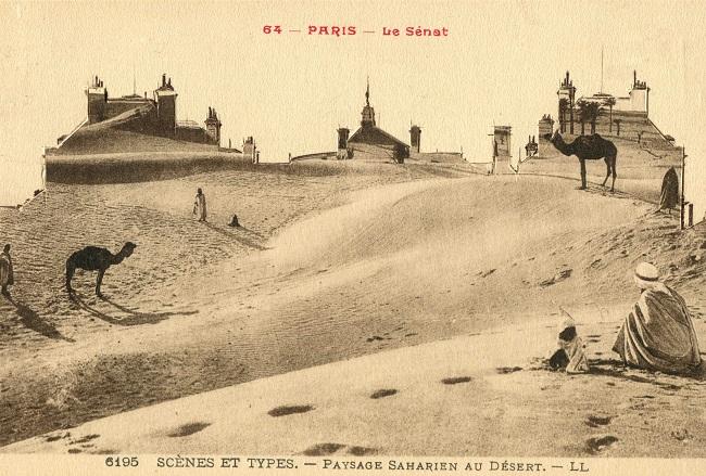 Paris - paysage saharien au désert